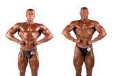 Bodybuilders esneme — Stok fotoğraf