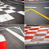 Автомобиль гонки асфальт — Стоковое фото