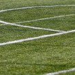 Green soccer field — Stock Photo #48029615