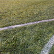 Green soccer field — Stock Photo #48029655