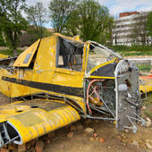 Crashed plane — Stock Photo