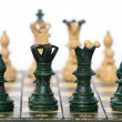 Chess board and pieces — Stock Photo