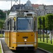 Yellow tram - Budapest — Stock Photo