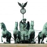 Four horse on Brandenburg gate — Stock Photo #14204295