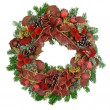 Christmas wreath — Stock Photo #17397615