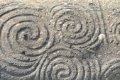 Triple spiral - Newgrange — Stock Photo