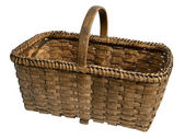 Old wicker basket — Stock Photo