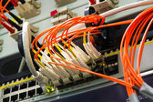 Fiber Optics with SC LC connectors. Internet Service Provider equipment. — Stock Photo