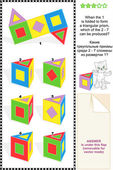 Visual math puzzle — Stock Vector