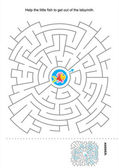 Maze game for kids — Stock Vector