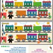 图库矢量图片: Toy train find the differences picture puzzle