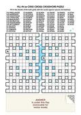 Criss-cross kelime bulmaca — Stok Vektör