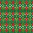 Christmas argyle background, seamless pattern included — Imagen vectorial