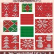 Seamless knitted patterns Christmas collection — Stock Vector