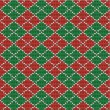 Christmas argyle background, seamless pattern included — Stock Vector