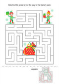 Christmas or New Year maze game for kids — Stock Vector