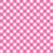 Pink gingham fabric cloth, seamless pattern included — Stock Vector
