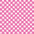 Stock Vector: Pink gingham fabric cloth, seamless pattern included