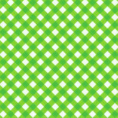 Fresh green gingham fabric cloth, seamless pattern included — Stock Vector