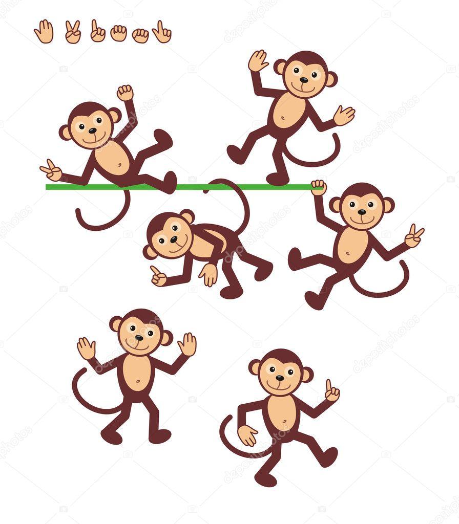 卡通人物-猴子