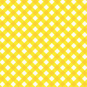 Yellow gingham fabric cloth, seamless pattern included — Stock Vector