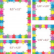 Colorful puzzle frames — Stock Vector #26076695