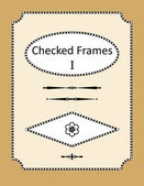 Checked frames, borders and page design elements — Stock Vector