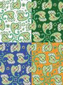 Seamless paisley patterns — Stock Vector