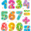 Decorated numbers, see also corresponding ABC set — Stock vektor #29317771