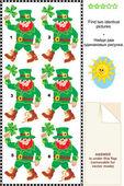 Görsel puzzle - cinler iki özdeş resim bul — Stok Vektör