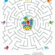 labirinto jogo para crianças - aves e gaiolas — Vetorial Stock