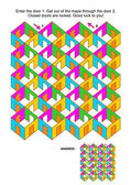 Rooms and doors maze game — Stock Vector