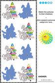 Mecz na tle wizualne puzzle - zabawki — Wektor stockowy