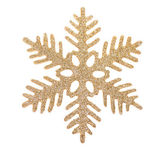 Gold snowflake isolated on white background — Stock Photo