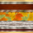 Royalty-Free Stock Vector Image: Abstract autumn background with maple leaves
