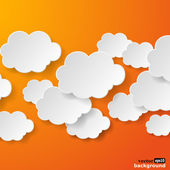 Abstract speech bubbles in the shape of clouds used in a social — Stock Vector