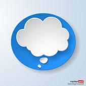 Abstrato papel bolha de discurso sobre fundo azul claro — Vetorial Stock
