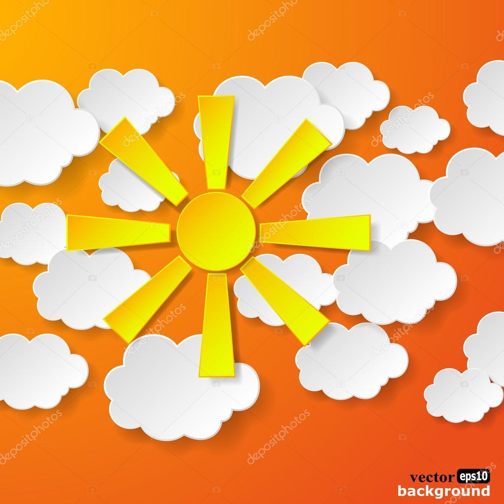 Объёмное солнце из бумаги