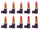 Beautiful lipsticks isolated on white background — Stock Photo