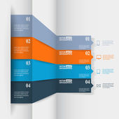 Abstract paper infografics — Wektor stockowy