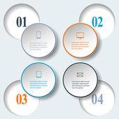 Abstract paper infografics. Internal and external data concept — Stock Vector
