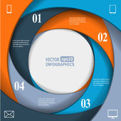 Modern business infographic banner — Stock Vector