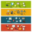 Set of modern concepts in flat design — Stock Vector
