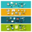 Collection of modern concept icons in flat design — Stock Vector