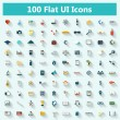 Set of modern icons in flat design — Stock Vector