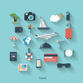 Travel and tourism modern concept in flat design — Stok Vektör