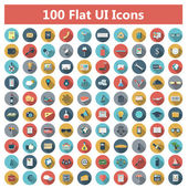 Set of modern icons in flat design — Vettoriale Stock