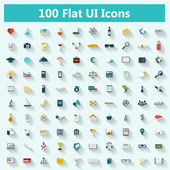 Set of modern icons in flat design — 图库矢量图片