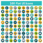 Set of modern icons in flat design — ストックベクタ