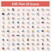 Set of modern icons in flat design — Vetorial Stock